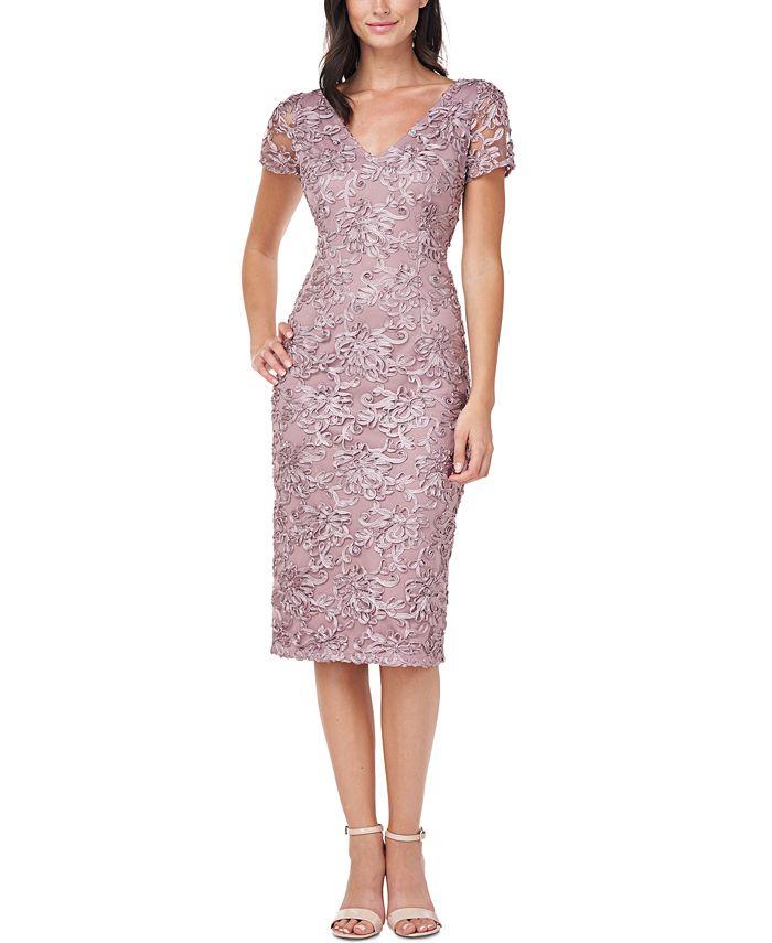 JS Collections - Soutache-Trim Sheath Dress