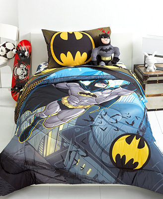 Batman from the rooftop comforter collection kids bedding bed