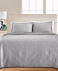 Martha Stewart Collection Floral Matelasse 100% Cotton King Bedspread, Created for Macy's