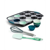 Deals on Art & Cook 15-Pc. Cupcake Pan, Silicone Liners & Tools Set
