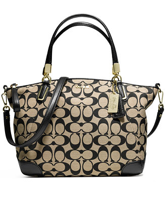 Coach Madison Small Kelsey Satchel In Printed Signature