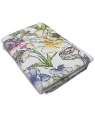 "Elite Cotton Floral-Print 30"" x 56"" Bath Towel, Created for Macy's"