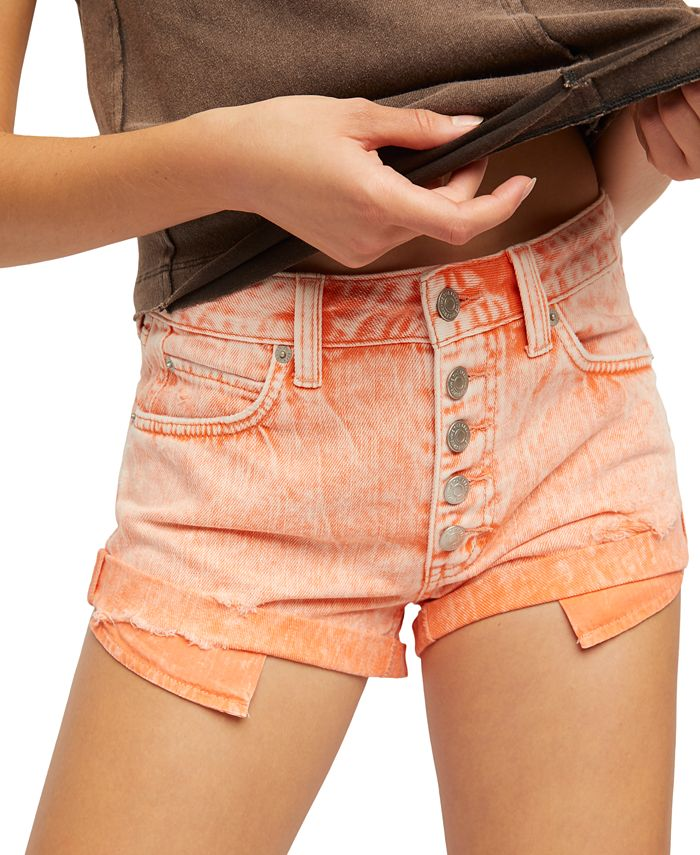 Free People - Romeo Cotton Cutoff Denim Shorts