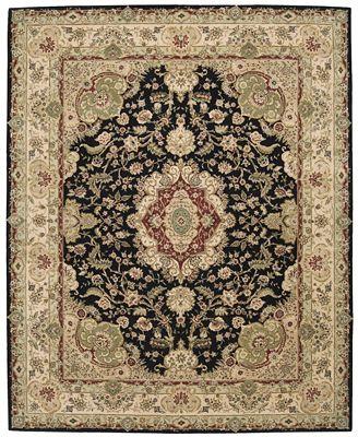 Nourison Octagon Area Rug Wool Amp Silk 2000 2028 Black 10