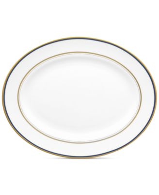 "kate spade new york Library Lane Navy 13"" Oval Platter"