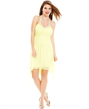 Yellow Evening Dress Macys Yellow Dresses