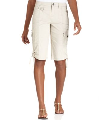Image of Style & Co. Tummy-Control Cargo Bermuda Shorts, Only at Macy's