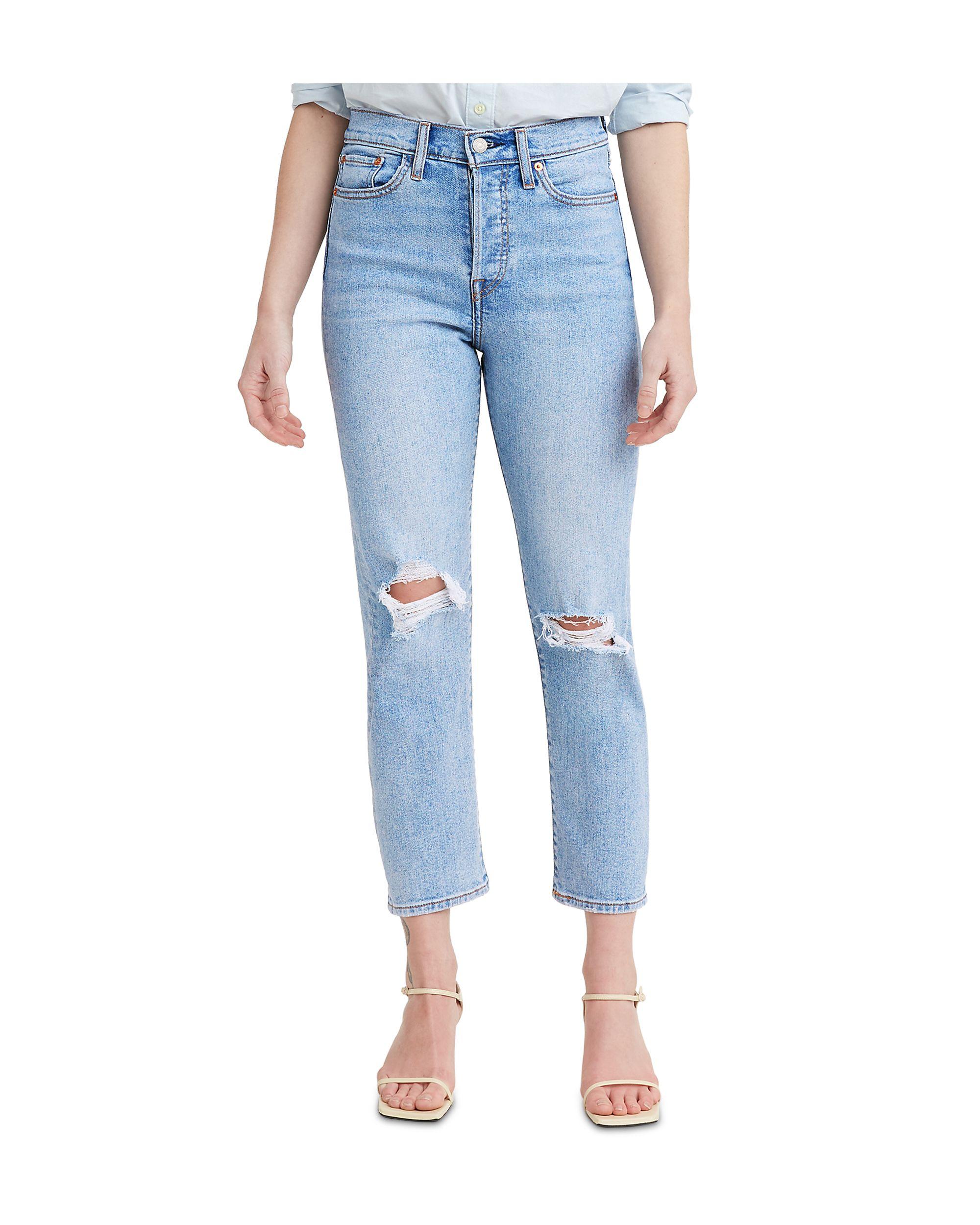 Women\'s Wedgie Straight-Leg Cropped Jeans Bridge Of