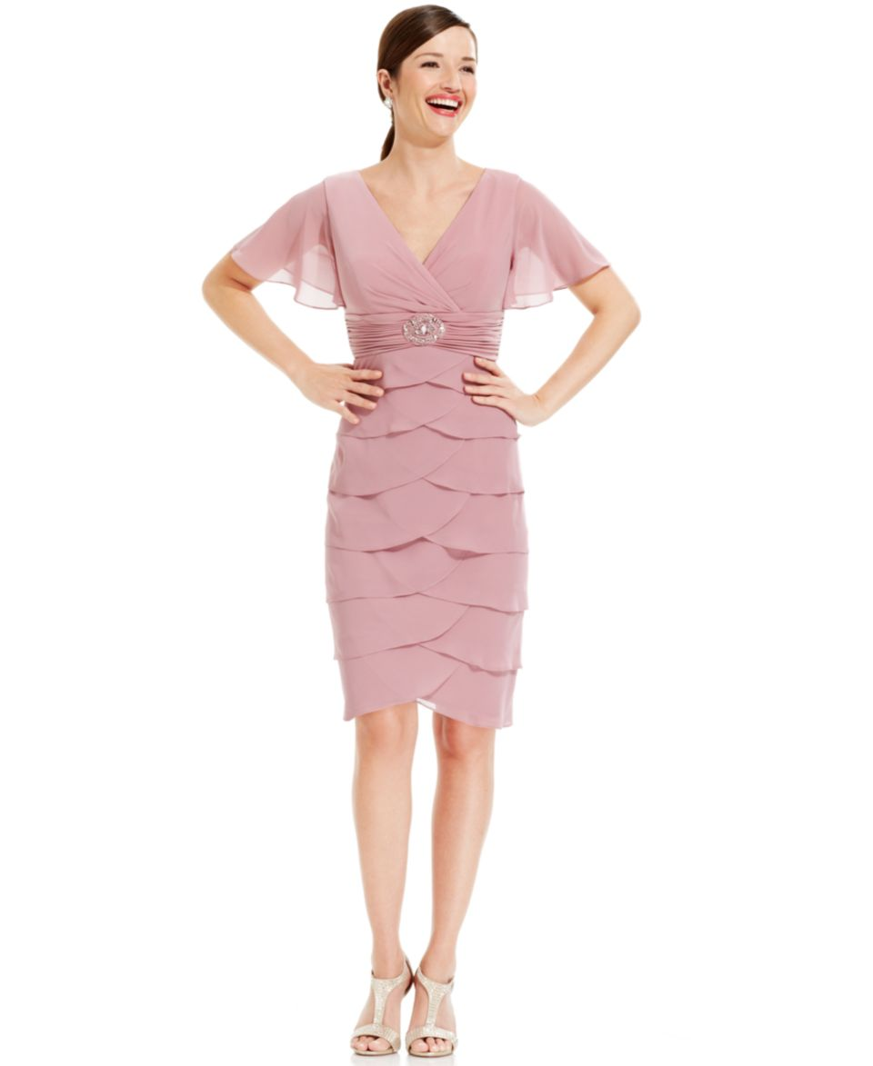 Jessica Howard Petite Sleeveless Tiered Dress and Jacket   Dresses   Women