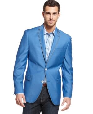 Tallia - Orange Big and Tall Blue Blazer