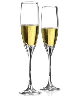 Waterford Ballet Ribbon Frame Toasting Flutes Pair