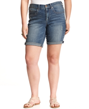 American Rag Plus Size Bermuda Denim Shorts, Danica Wash