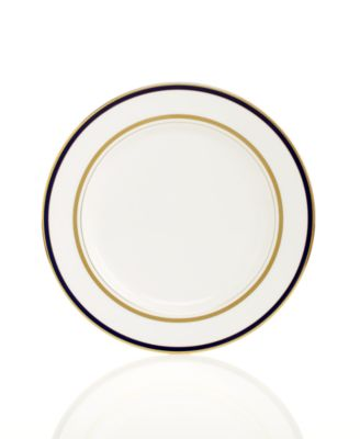 kate spade new york Library Lane Navy Appetizer Plate