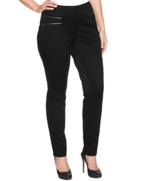 INC International Concepts Plus Zip-Pocket Skinny Pants