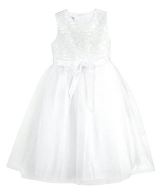 Dresses flower girl white lace