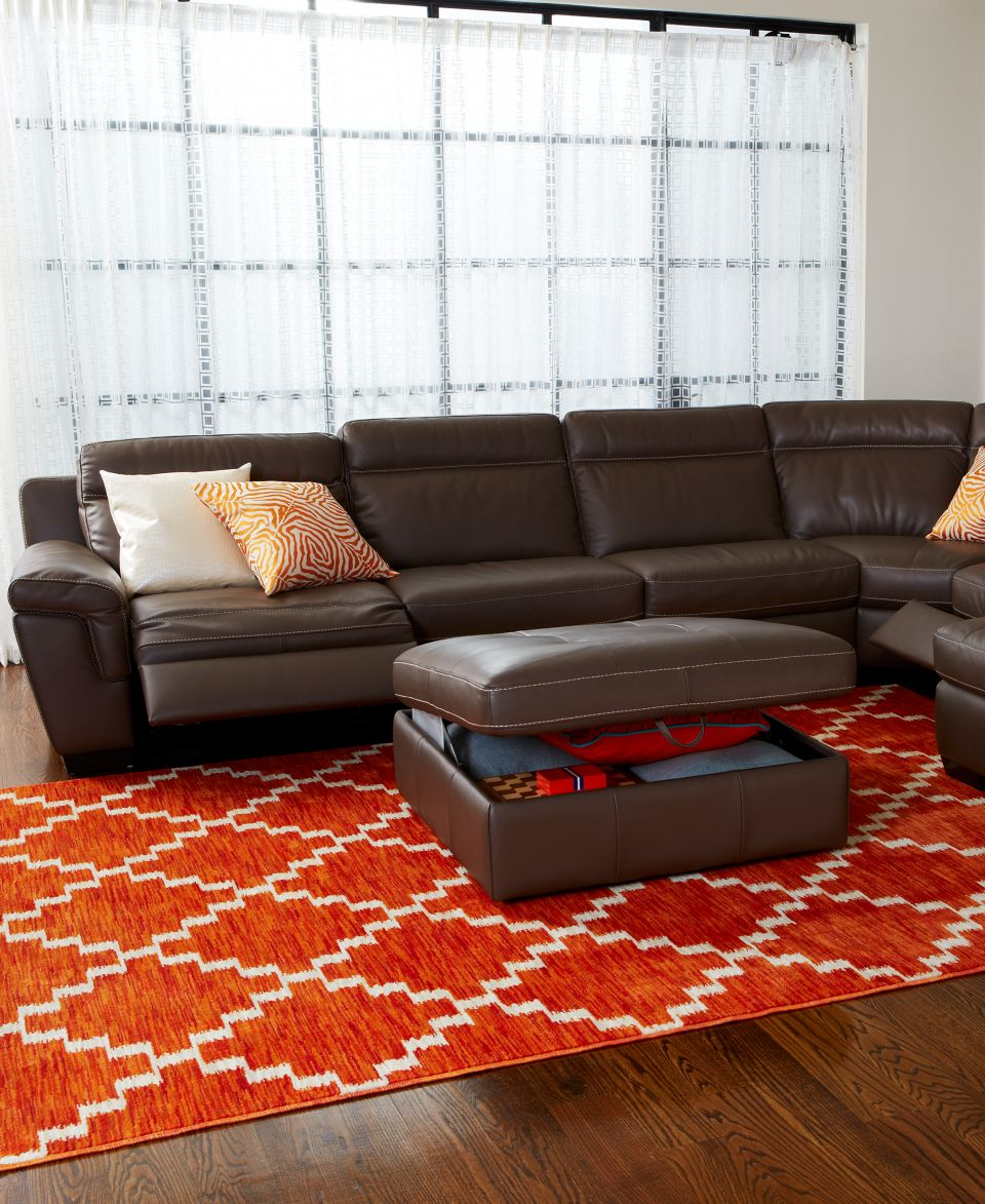 Julius 6 Piece Leather Power Motion Chaise Sectional Sofa