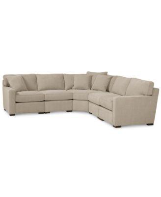 Elliot Fabric Microfiber 2 Piece Sectional Sofa