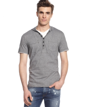 Bar Iii Mickey Short-Sleeve Hooded Shirt $ 24.99