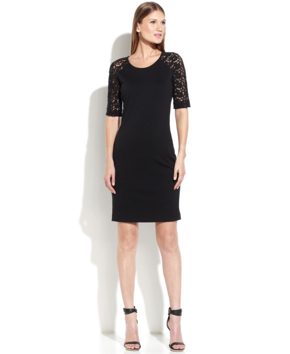 Lauren Ralph Lauren Long Sleeve Lace Dress   Dresses   Women