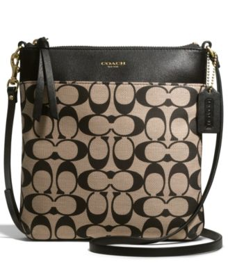 COACH LEGACY NORTH/SOUTH SWINGPACK IN PRINTED SIGNATURE FABRIC