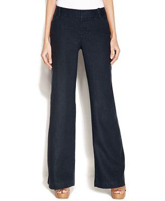 Inc International Concepts Wide Leg Linen Pants Pants