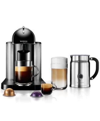 Nespresso VertuoLine Single Serve Brewer with Aerrocino Plus Milk Frother