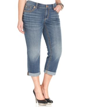 Seven7 Jeans Plus Size Cropped Jeans, Taos Wash