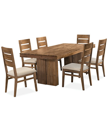 Champagne 7 Piece Dining Room Furniture Set Furniture Macy 39 S