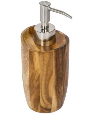 CLOSEOUT! Kassatex Bath Accessories, Acacia Soap and Lotion Dispenser
