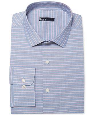 Bar iii carnaby collection slim fit nautical horizontal for Horizontal striped dress shirts men