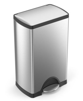 simplehuman Deluxe Rectangular Step Trash Can, 38-Liter