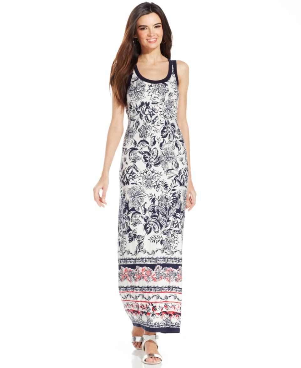 Karen Kane Floral Print Maxi Dress   Dresses   Women