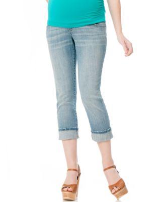 Motherhood Maternity Cropped Straight-Leg Jeans