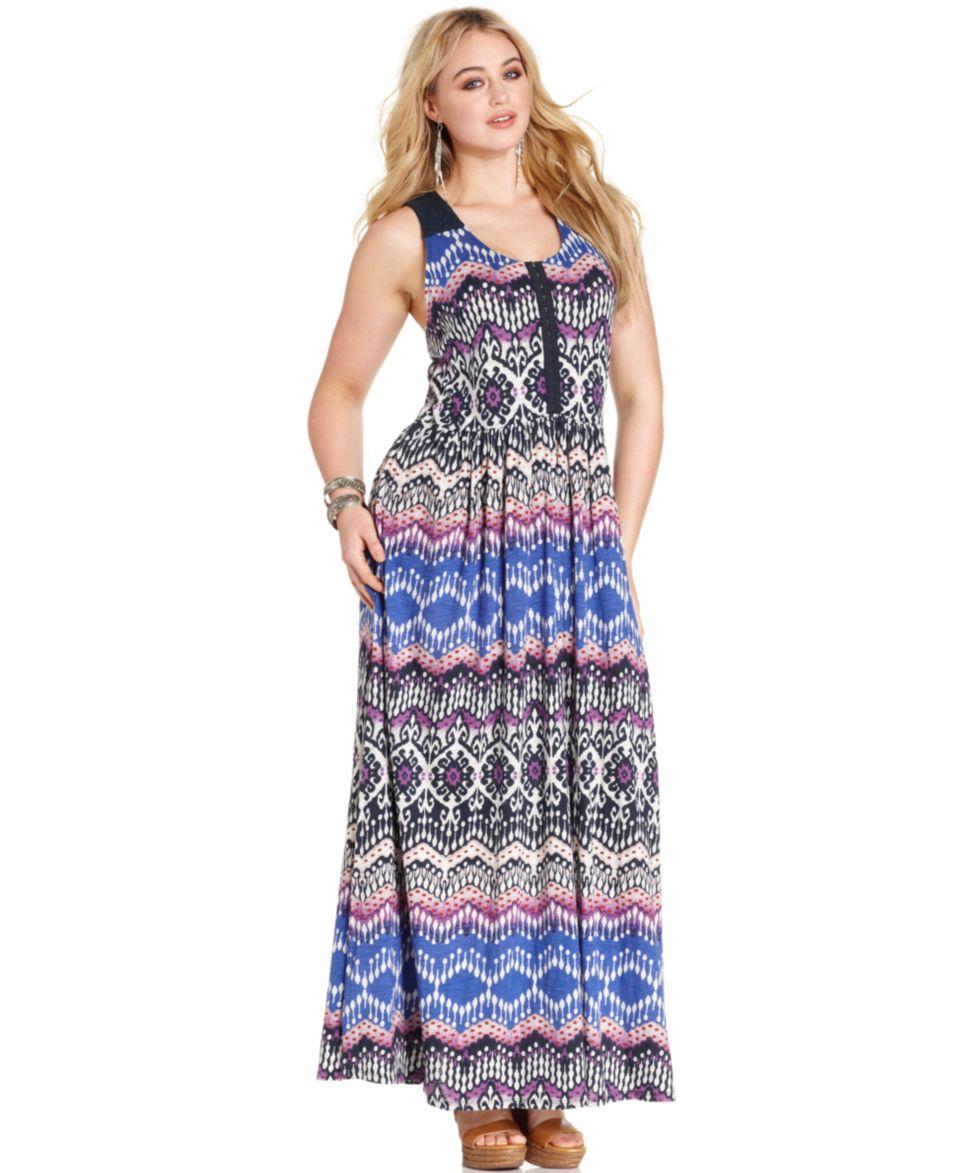 5de68d2ef2b52 Spense Plus Size Faux Wrap Maxi Dress Dresses Plus Sizes on PopScreen
