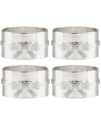 kate spade new york Set of 4 Grace Avenue Napkin Rings