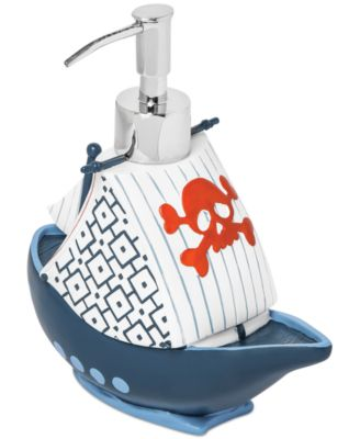 Kassatex Bath Accessories, Pirates Soap and Lotion Dispenser