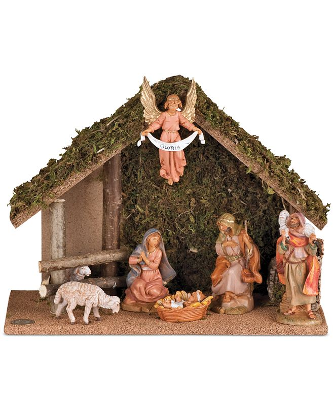 Roman Fontanini Nativity 7-Piece Set with Stable