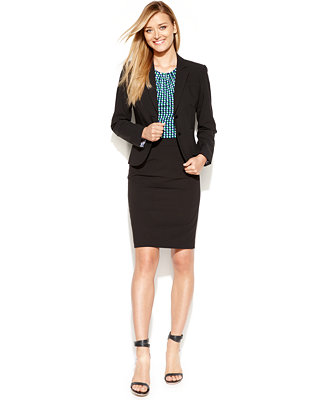Klein Petite Stretch Blend Suit Separates Collection Petites - Wear to Work - Macy's Bought this Power Suit this weekend, every women needs a Power Suit! Classic, Confident, Polished, always a fashion do!