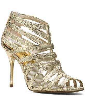 Sale alerts for  MICHAEL Michael Kors Tatianna Back Zip Evening Sandals - Covvet