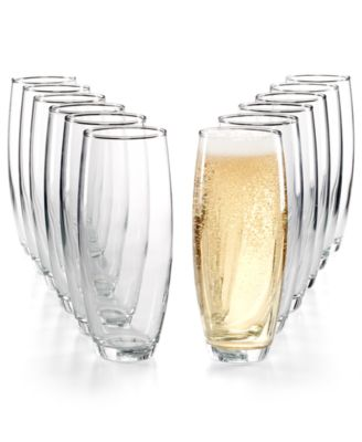 12-Pc. Stemless Flutes Set, Created for Macy's
