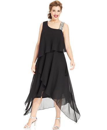 Alex Evenings Plus Size Dress Macys Discount Evening Dresses
