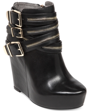 BCBGeneration Anders Platform Wedge Booties Women's Shoes