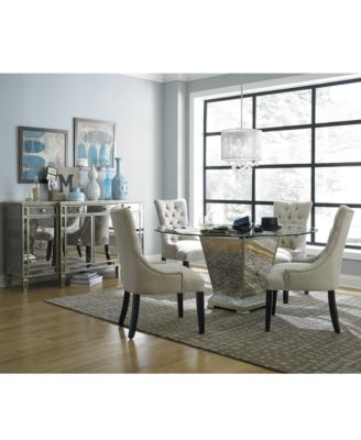 Furniture Marais Round Dining Room Furniture Collection & Reviews - Furniture - Macy