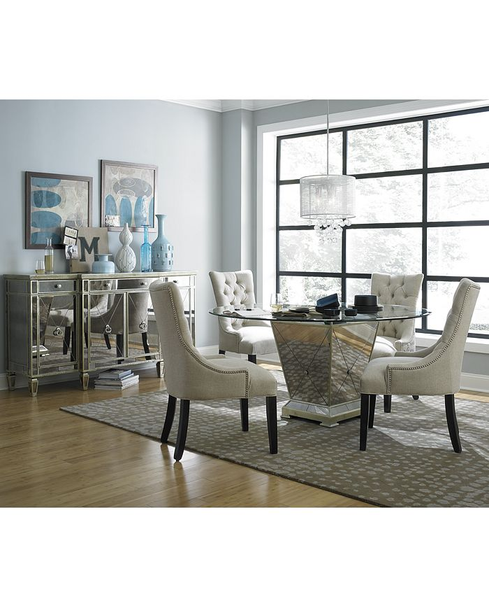 Furniture Marais Round Dining Room Furniture Collection Reviews Furniture Macy S