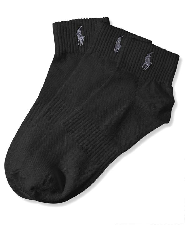 Polo Ralph Lauren - Men's Athletic Quarter Socks 3-Pack