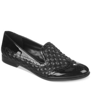 Franco Sarto Tweed Smoking Flats Women's Shoes