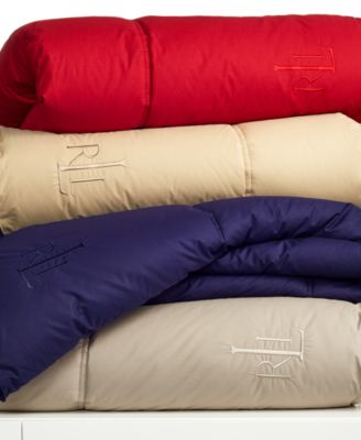 Lauren Ralph Lauren Color Down Alternative King Comforter, 100% Cotton Cover