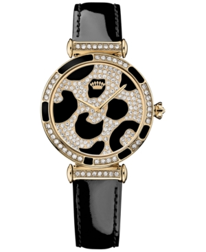 Juicy Couture Women's J Couture Black Patent Leather Strap Watch 34mm 1901170