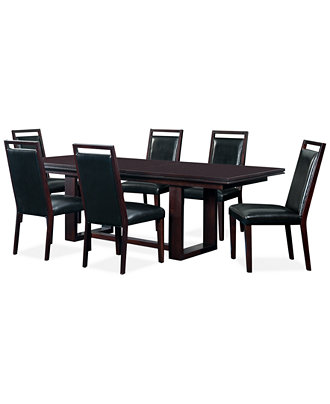 Belaire Black 7 Piece Dining Room Furniture Set Furniture Macy 39 S