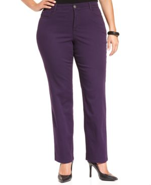 Style & Co. Plus Size Tummy-Control Slim-Leg Pants